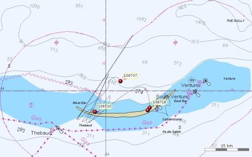 Grey seal movement, Sable Island
