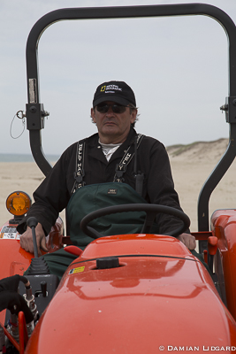 Jim on the orange tractor