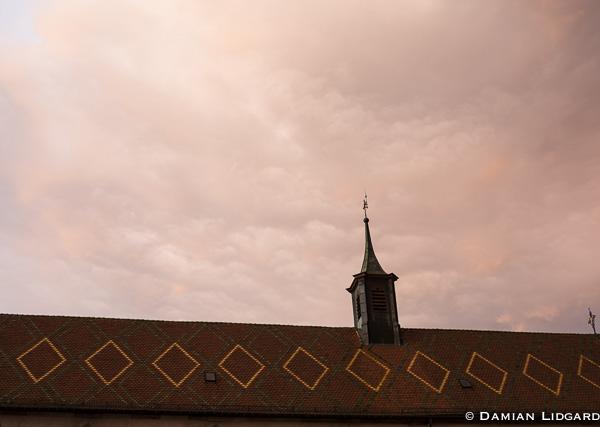 Dusk in Alsace, France